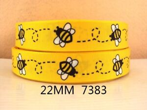 """Bee Ribbon 7/8"""" (22mm) Wide 1m is £1.49 NEW UK SELLER FREE P&P"""