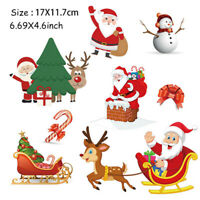 Christmas Patch Washable Heat Transfer Ironing Patch Clothing Santa Claus PFFB