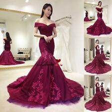 2017 Mermaid Formal Prom Party Gown Wedding Bridesmaid Evening Dress Custom Size
