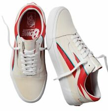 c4f283f59a0b3f VANS X David Bowie Old Skool Aladdin Sane true White Skate Shoe Size 12