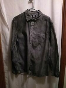 Rock & Republic Mens Faded Gray Long Sleeve Button Down Shirt  Size XL