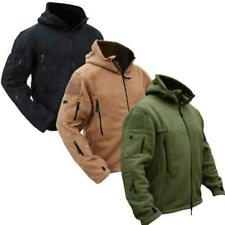 Mens Hunting Outdoor Polar Fleece Military Tactical Jacket Army Softshell JJ