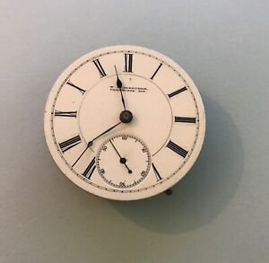 1883 Rockford Watch Co. Pocket Watch Movement / 18s 15j *REPAIR OR FOR PARTS*