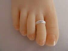 2x 925 Sterling Silver (plated) Toe Ring Allergy . for 2 Items