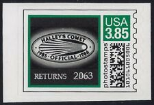 """2CVP Var Very Scarce $3.85 Green """"Halley's Comet"""" Space Photostamps Mint NH"""