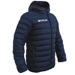 Small Givova Olanda Navy Winter Padded Jacket Mens Boys Coat Football Managers