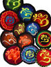 Aufnäher Patches Patch Goa Nepal Om Yin Yang Hanf Buddhas Augen 5-6 cm