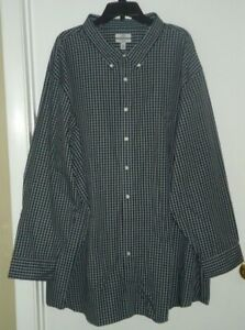 Croft and Barrow Easy Care Classic Fit Dress Shirt Gray Plaid Size 22 36/7T NEW