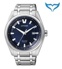 Citizen Super Titanium Herren Armbanduhr AW1240-57L Saphir Eco-Drive Herrenuhr