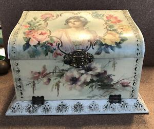 Vintage Antique Celluloid ladies dresser box W/  accessories