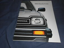 1981 Honda Civic USA Market Color Brochure Catalog Prospekt