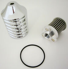 HARDDRIVE BILLET REUSABLE OIL FILTER CHROME EM-0018 MC Harley-Davidson