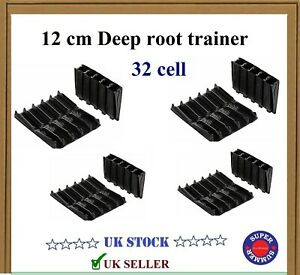 Reusable Deep | Root Trainer | Haxnicks Propagation System | (8x4) 32 Cell Pack