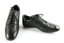 PIERRE CARDIN Sneakers Baskets Cuir Noir T 39 Très bon état