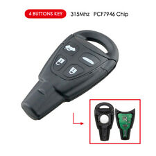 Car Remote Entry Key For Saab 9-3 9-5 2003-2011 315MHz PCF7946 Chip Uncut Blade