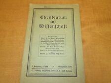 Christentum und Wissenschaft 9.Heft September 1931