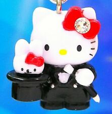 Hello Kitty as a Magician with Rabbit Swarovski Elements Crystals Japan Charm