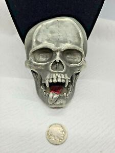 Bergamot 2004 Vampire Fangs Bloody Tongue Skull Belt Buckle T180