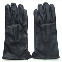 QHA Womens Ladies Girls Black 100% Genuine Sheep Real Leather Winter Gloves Q5