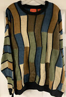 Vintage J Simon Multicolored Knit Sweater Coogi Style Men's Size 2XL Nice!