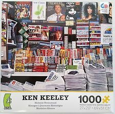 CEACO® 1000pc KEN KEELEY • HISTORIC NEWSSTAND • PUZZLE Jig Saw USA MADE