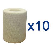 10 X CMS Eab Primo Soccorso Medico Professionale Elastico Adesivo Benda 7.5cm