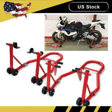 Motorcycle/Bike Stand Front Rear Hook Swingarm Lift Universal Adjustable Tire