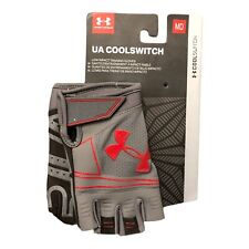 """Under Armour UA Low Impact Training Gloves """"Cool Switch"""" Men's Medium Gray/Red"""