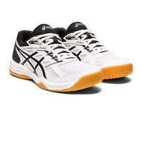 Asics Womens Upcourt 4 Indoor Court Shoes White Sports Squash Netball Handball