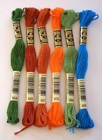 DMC Embroidery Threads - Stranded Cottons - Choice 904 920 921 970 989 or 995