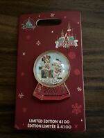 Brand New Disney Mickey & Minnie Mouse Holiday Christmas Snow Globe PIN 2020 LE