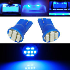 Pair 8000K Blue T10 168 194 W5W 8-Smd Led Bulbs For License Plate Lights Lamps(Fits: Neon)