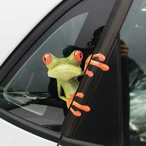 3D Funny Auto Green Frog Peep Truck Window Wall Decal Stickers Car Accessories