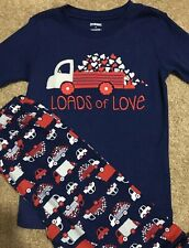NWT New GYMBOREE Girls Holiday Blue Red Truck of Love ❤️��️❤️ Pajamas Size 8