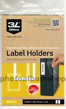 Label Holders 25mm x 75mm (12) 3L Self-Adhesive for Book & Binder Spines