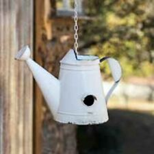 """Watering Can Birdhouse white rustic great decor 14½"""" x 8"""" x 10"""" new"""