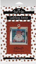Just Nan Ladybug Santa - Whimzi Ornament Series- cross stitch pattern-New