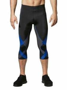 CW-X Men's Stabilyx 3/4 Tights Black/Grey/Blue size Large NWT $95