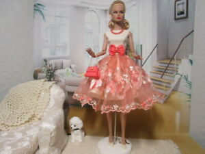 Poppy Parker Dynamite Girls NuFace Handmade Outfit Lace Dress Jewelry Purse Belt