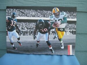 Green Bay Packers Aaron Rogers Action Photo Mounted on Canvas Wood Frame