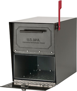 Oasis Classic Extra Large Metal Bronze Post Mount Locking Mailbox