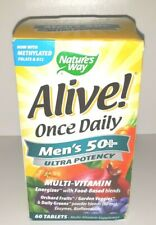 NEW Nature's Way Alive! Once Daily Men's 50+ Ultra Potency Multivitamin 2022