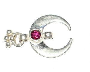 925 Sterling Silver 11.80 Carat Fine Jewelry 1 Inch Moon Shape Pendants BHG19