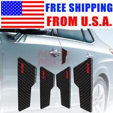 Universal 4Pcs Car Carbon Fiber Door Protector Side Edge Trim 6inch Large Size