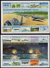 Solomon Islands GuadalCanal 1992 50th Anniv  2x Miniature Sheets Unmounted Mint