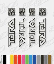 autocollants TORA Pack Rockshox Stickers couleurs personnalisées 12