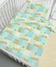 Baby Bettwäsche 100x135 cm Teddybär und Tiere 17713 Baumwolle B Ware