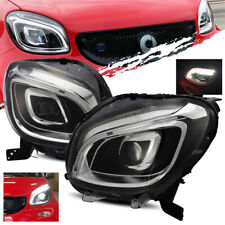 For 2016-2018 Smart ForTwo DRL Full LED Projector Headlights Left/Right Assembly