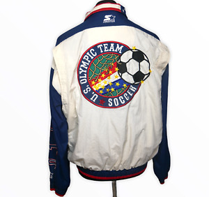 Vintage 90s Starter Jacket USA US Olympic Soccer Team Bomber Jacket Rare