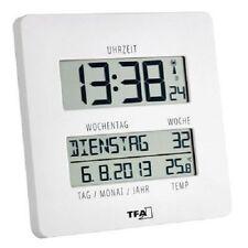 """TFA Dostmann """"Time Line"""" Funkuhr mit Temperatur Anzeige der Innentemperatur NEU"""